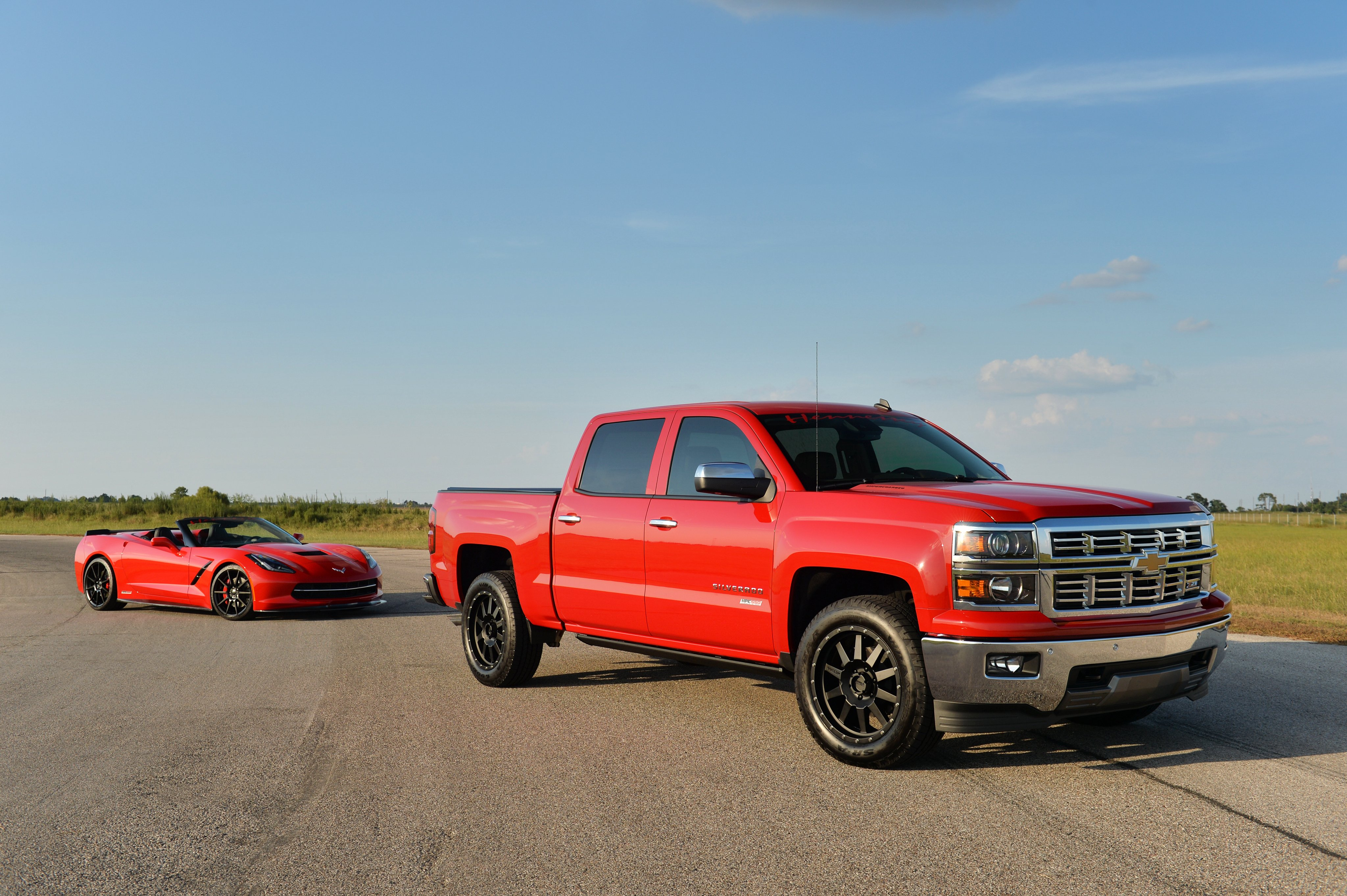 2015 hennessey chevrolet silverado hpe550 pickup muscle corvette supercar wallpaper 4096x2726 461871 wallpaperup