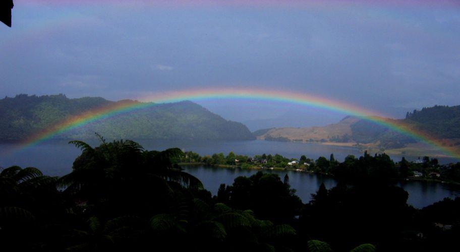 rain rainbow sky nature colors landscapes wallpaper
