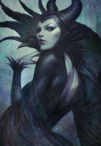 malefiz disney movie crow witch fantasy wallpaper