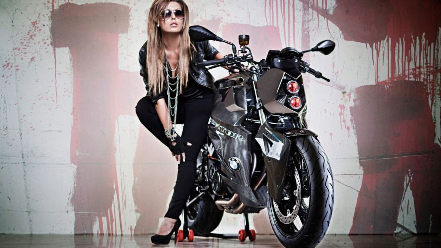 MOTORCYCLES - women blonde bike wallpaper