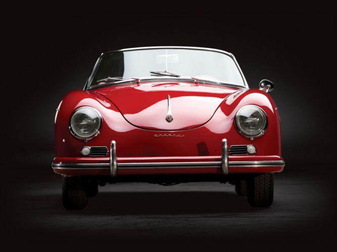 1958 Porsche 356A 1600 Convertible D (T-2) retro wallpaper