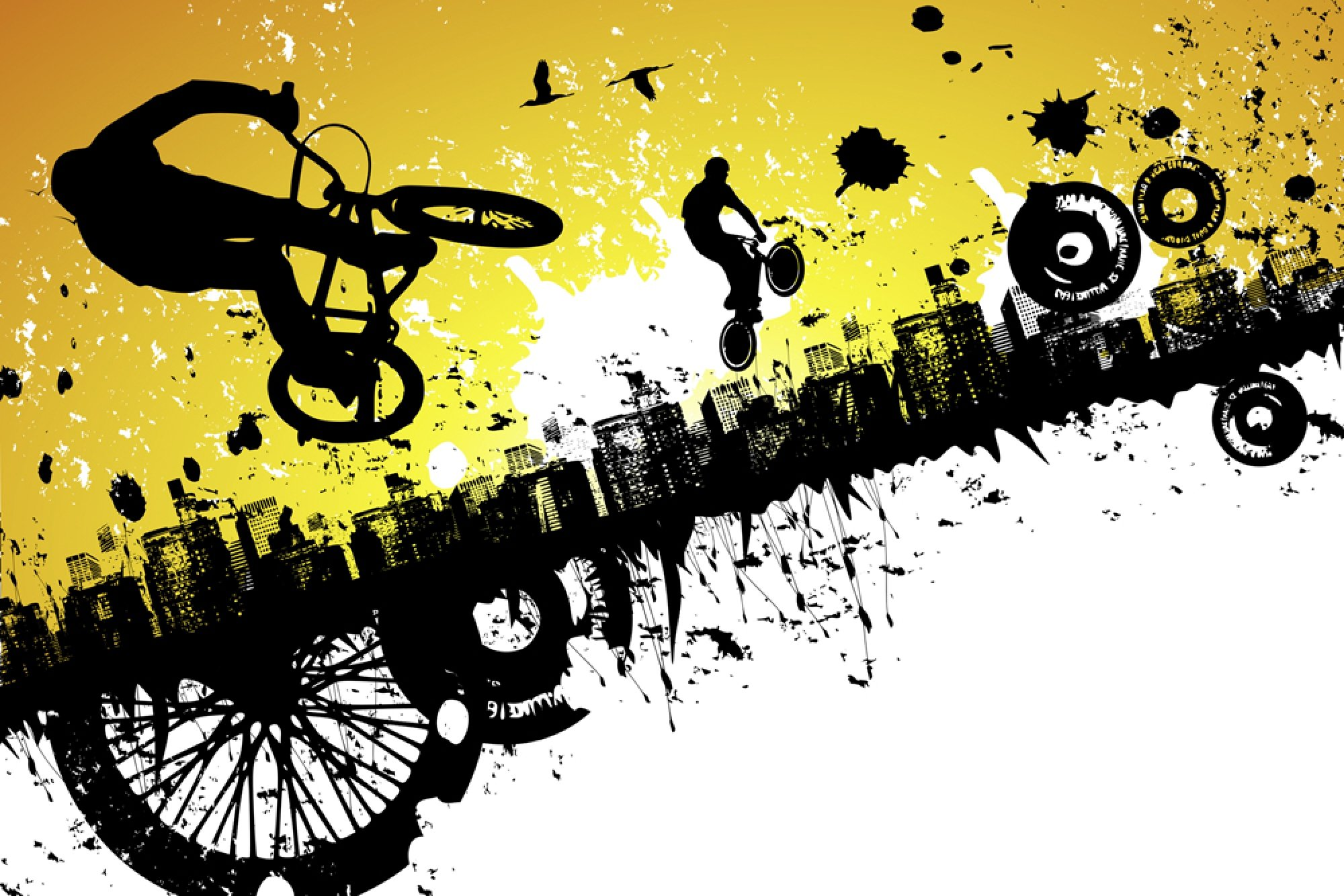 Yellow Walls In Bedroom Bmx Logo Bike Bicycle Wallpaper 2000x1334 463397