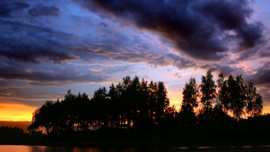 landscapes nature wild clouds season blue earth beautiful trees sun sunset sunlight skyscapes background wallpaper