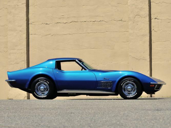 1971 Chevrolet Corvette Stingray LS5 454 365HP (C-3) muscle classic supercar wallpaper