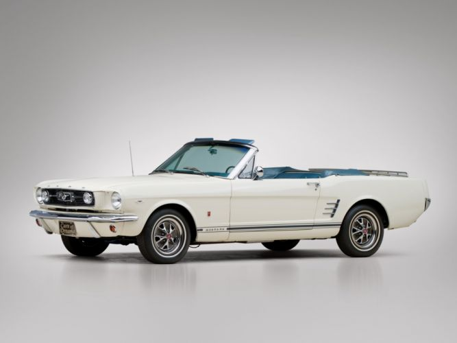 1966 Ford Mustang G-T Convertible muscle classic wallpaper