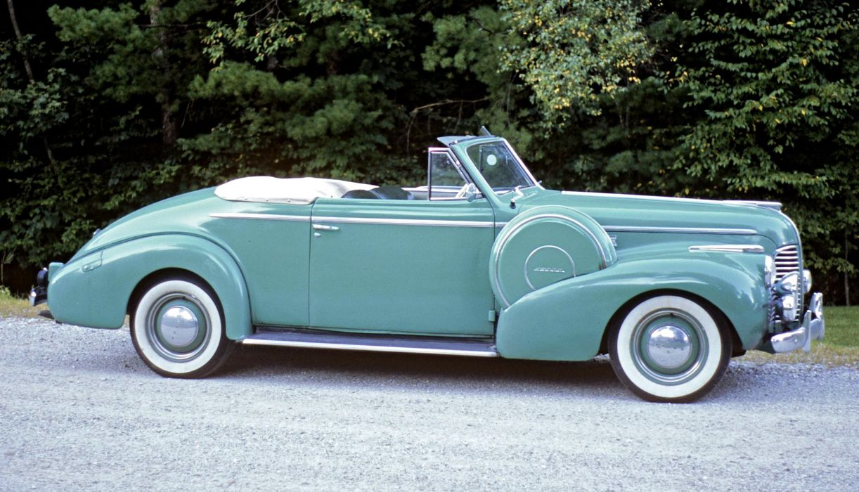 1940 Buick Special Convertible Coupe (46C) retro luxury wallpaper