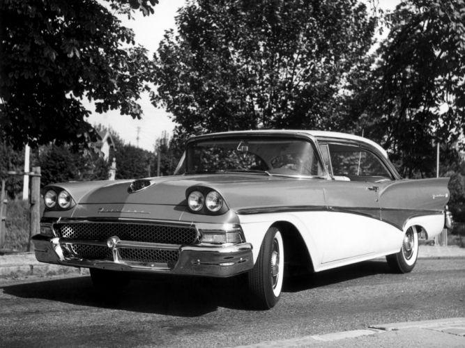 1958 Ford Fairlane 500 2-door Victoria Hardtop (63A) retro wallpaper