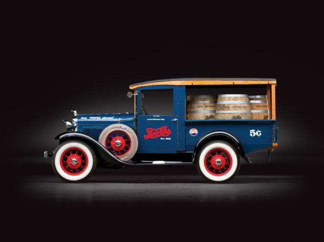 1930 Ford Model-A Canopy Express pickup retro beer wallpaper