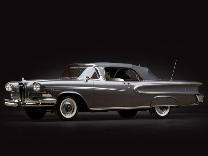 1958 Edsel Pacer Convertible (76B) luxury retro wallpaper