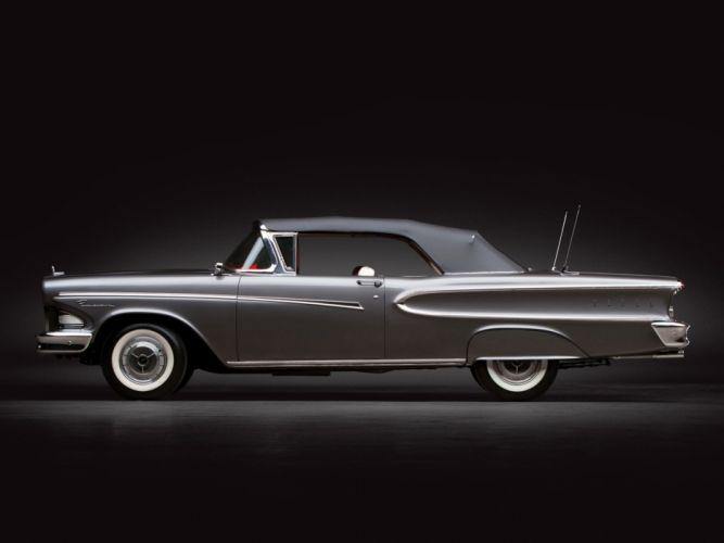 1958 Edsel Pacer Convertible (76B) luxury retro wallpaper