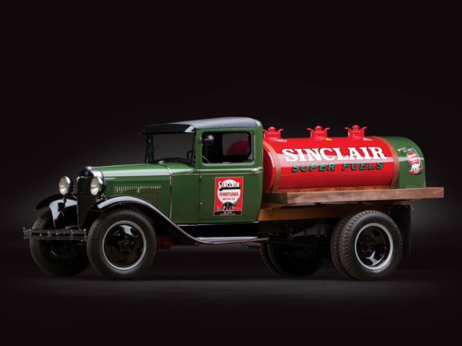 1930 Ford Model-AA Fuel Tanker pickup retro wallpaper