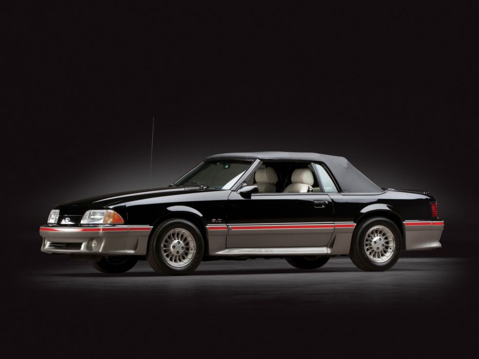 1987-93 Ford Mustang G-T Convertible muscle wallpaper
