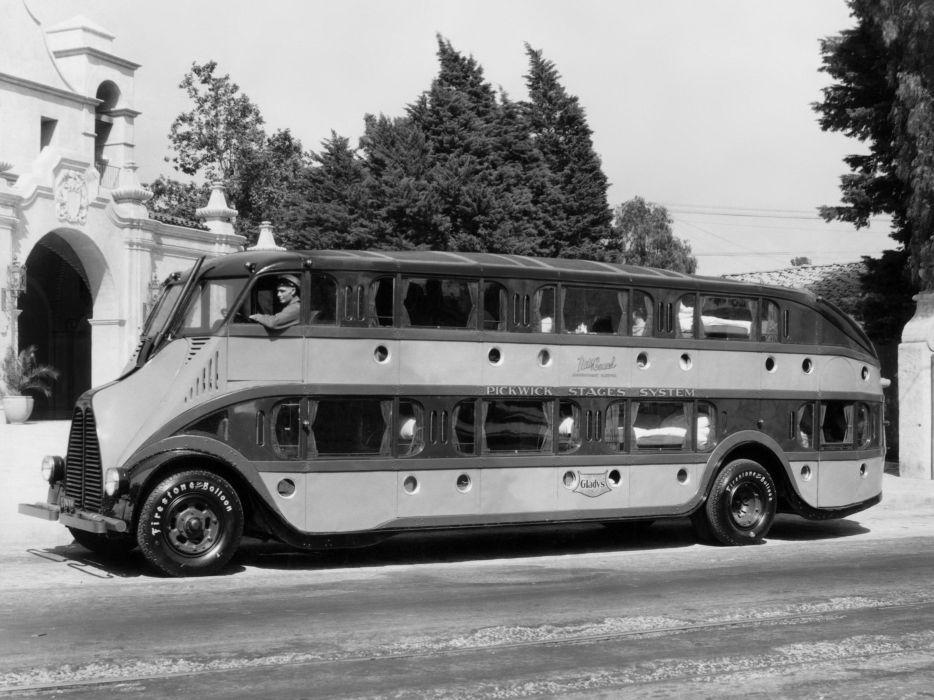 1930 Pickwick Duplex Nite Coach bus transport semi tractor retro wallpaper