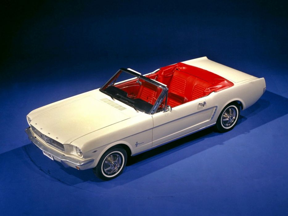 1964 Ford Mustang Convertible (76A) muscle classic wallpaper