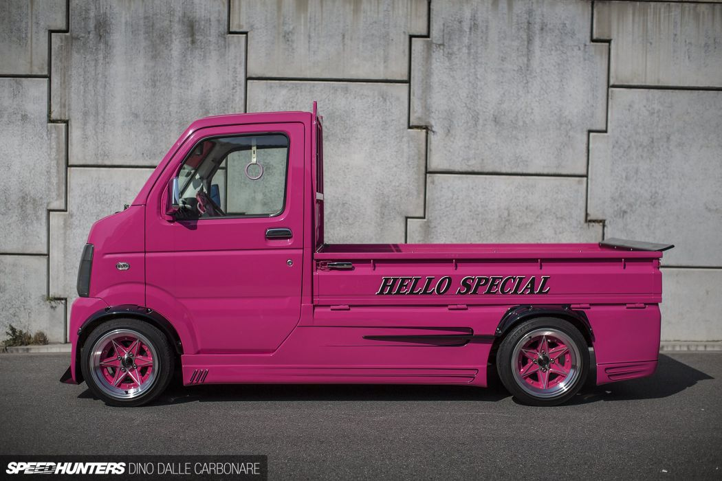 Hello-Special Suzuki Carry Kei Drift Truck pickup race racing tuning wallpaper