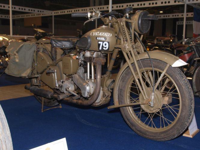 ARIEL WNG military motorbike motorcycle bike retro wallpaper
