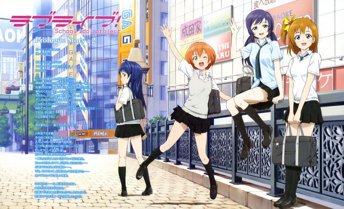 hoshizora rin kousaka honoka love live! murota yuuhei seifuku sonoda umi toujou nozomi wallpaper