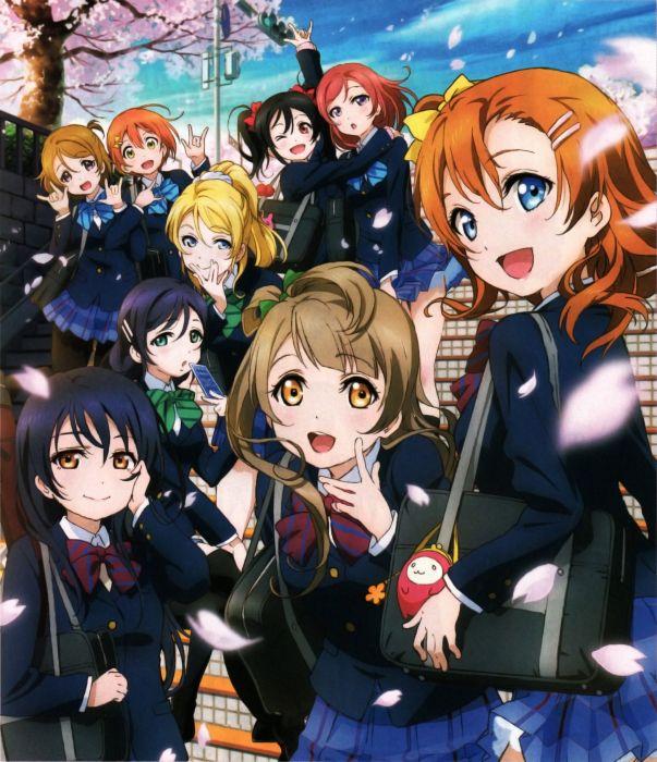 ayase eli hoshizora rin koizumi hanayo kousaka honoka love live! minami kotori nishikino maki pantyhose seifuku sonoda umi toujou nozomi yazawa nico wallpaper