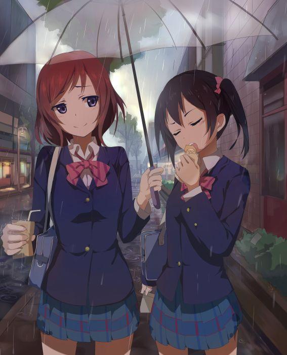 Anime Wallpaper Live: Love Live! Nishikino Maki Seifuku Yazawa Nico Wallpaper