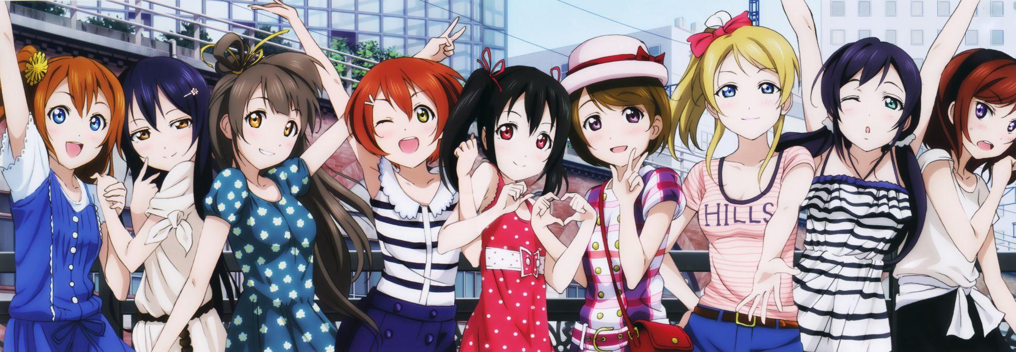ayase eli hoshizora rin group girl koizumi hanayo kousaka honoka love live! minami kotori murota yuuhei nishikino maki sonoda umi toujou nozomi yazawa nico wallpaper