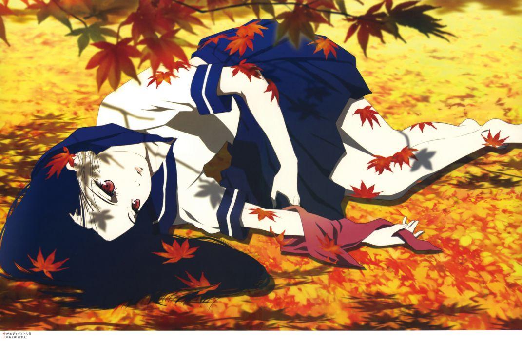enma ai jigoku shoujo seifuku autumn wallpaper