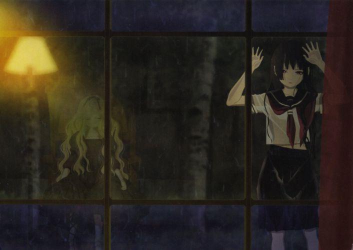 dress enma ai jigoku shoujo screening see through seifuku wallpaper