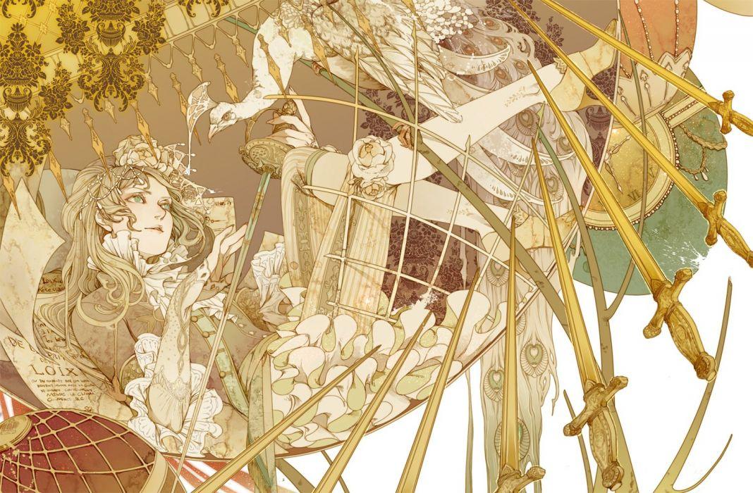 dress kamoshi akai lolita fashion girl pretty wallpaper