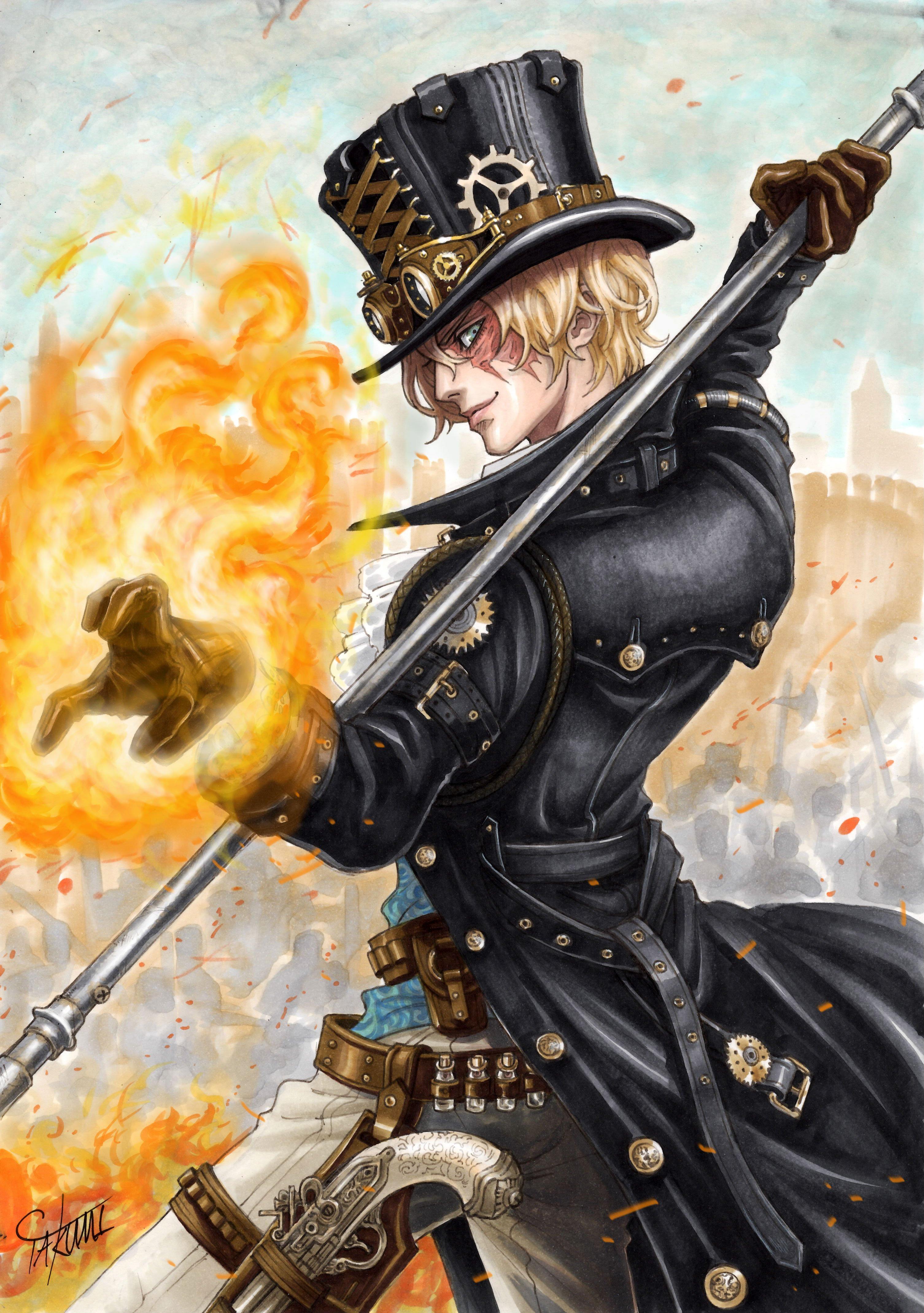 Gun Male Marlboro One Piece Sabo Weapon Wallpaper