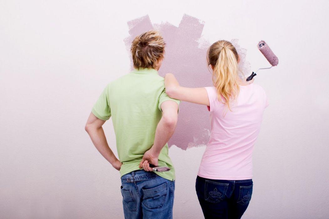 design interior painting paint construction couple wallpaper