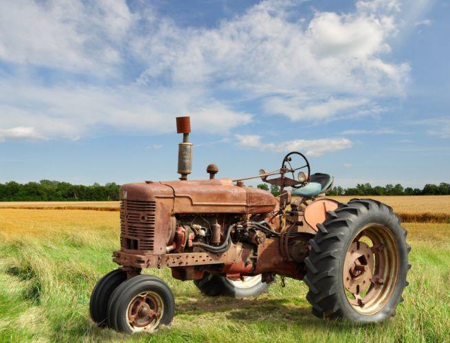 tractor farm rustic wallpaper