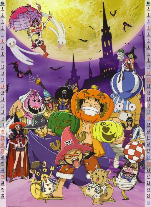 Brook Calendar Cleavage Franky Halloween Horns Inuppe Kumashi Lola Monkey D Luffy Nami Nico Robin One Piece Perona Usopp Victoria Cindry Wings Wallpaper 2634x3596 467491 Wallpaperup