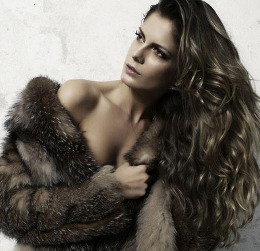 fashion fur model beautiful wallpaper