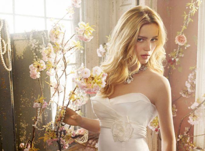 girl bride blond beautiful woman beauty wedding flowers pretty wallpaper