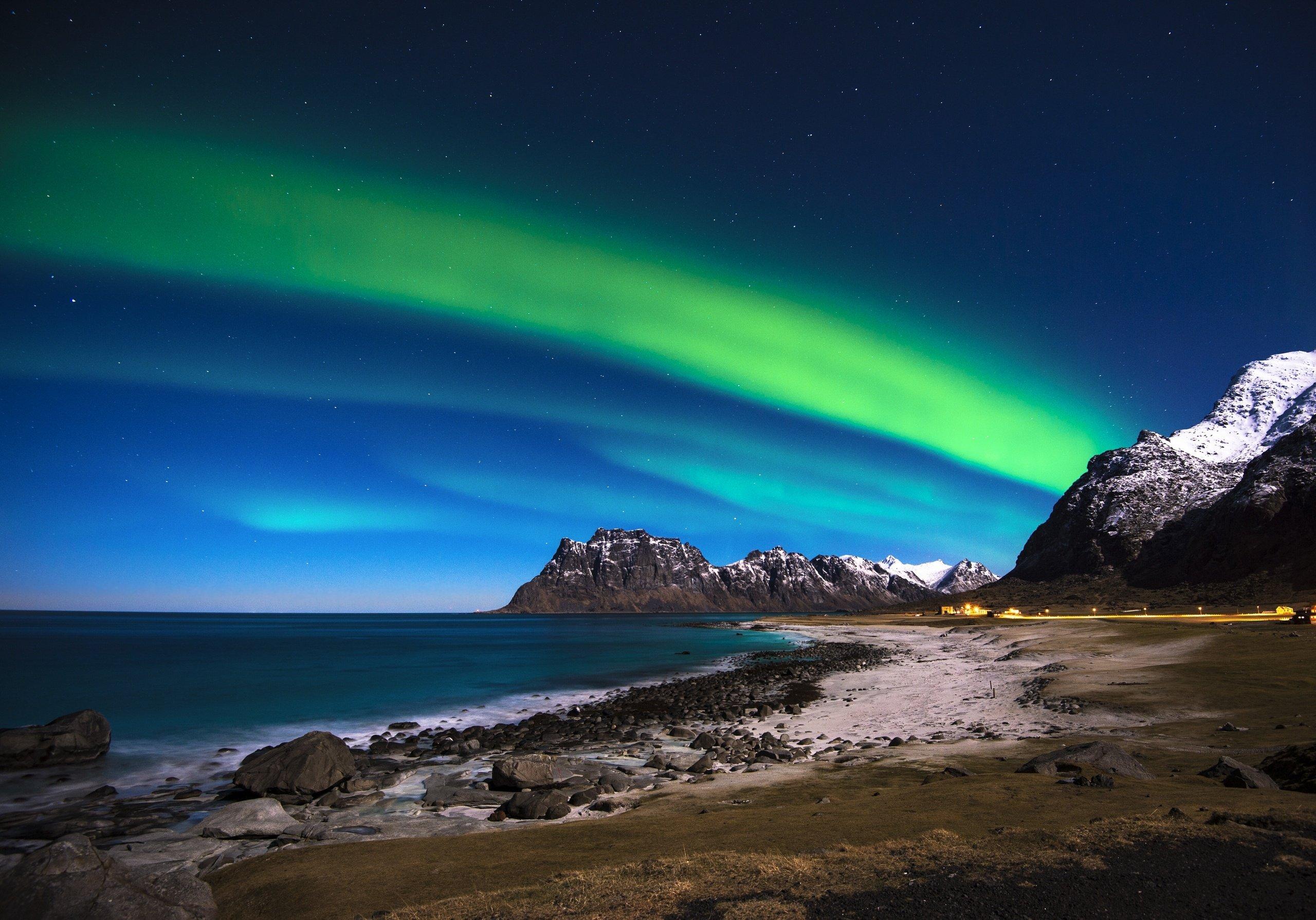 Northern Lights Norway Wallpaper Lofoten Islands Norway