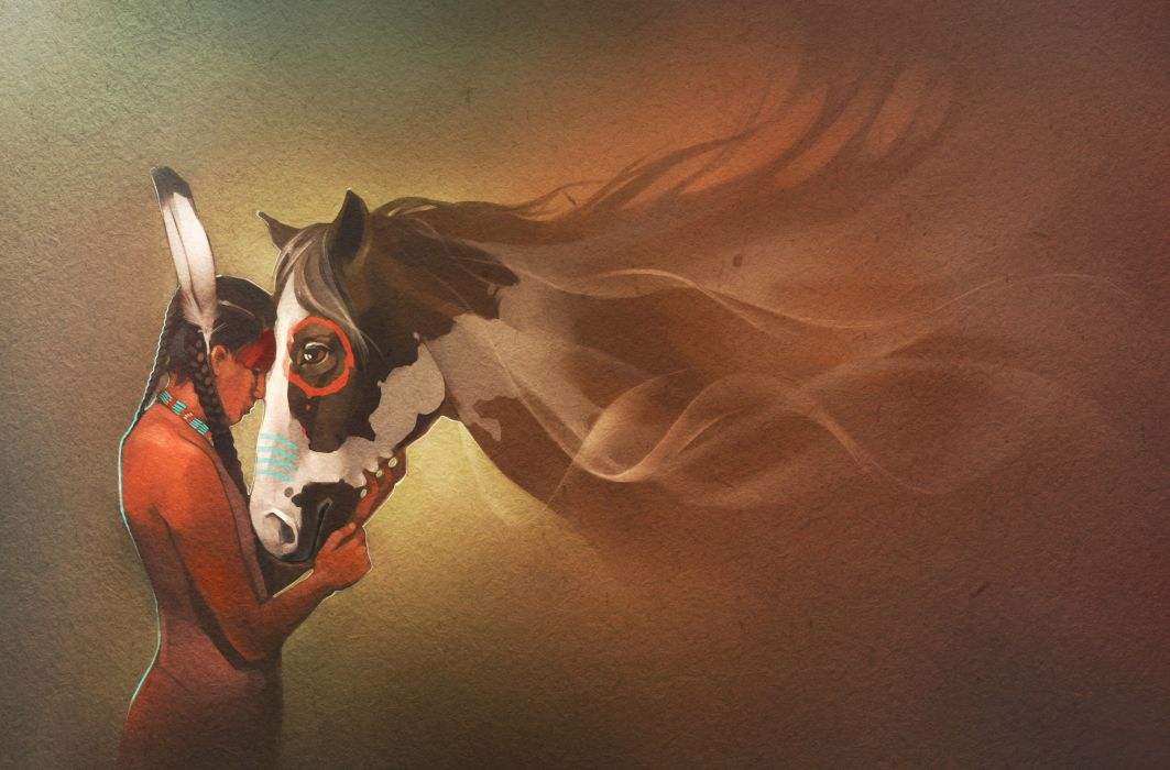 Horses Indian Animals Mood Western Nativew Horse Wallpaper 2575x1696 468924 Wallpaperup