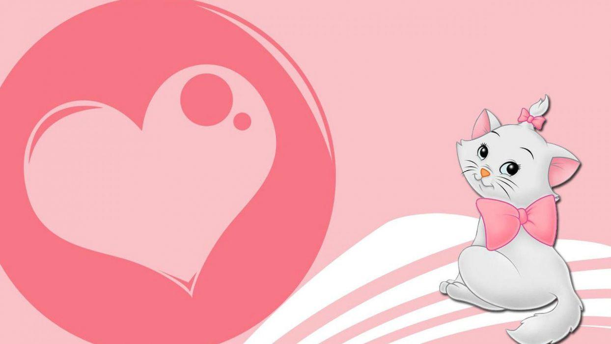 THE ARISTOCATS animation cartoon cat cats family disney kitten wallpaper