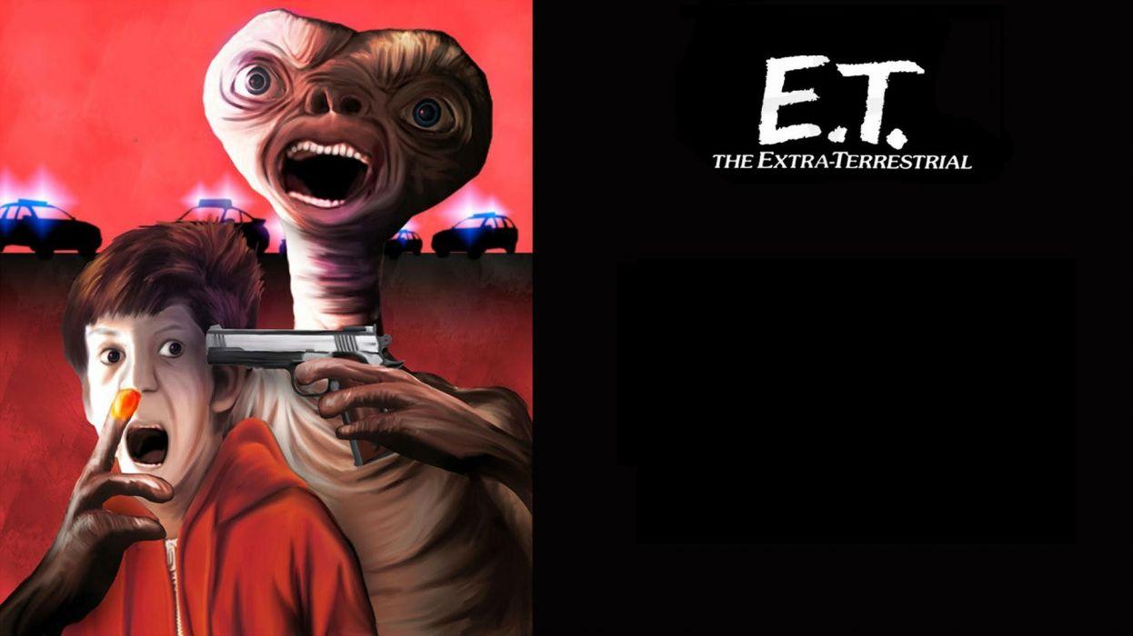 E T THE EXTRA TERRESTRIAL adventure family science sci-fi e-t alien dark wallpaper