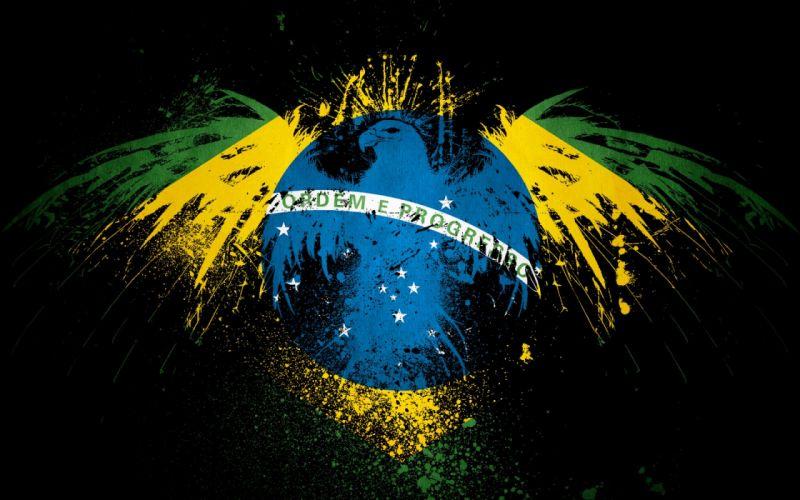 BRASIL - art flag wallpaper
