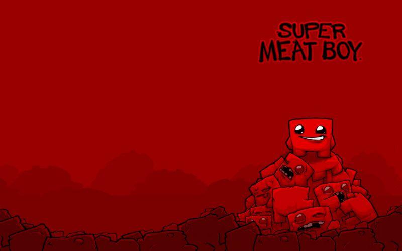 SUPER MEAT BOY platform animation cartoon humor funny nintendo (4) wallpaper