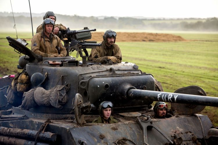 FURY action drama war brad pitt military tank wallpaper
