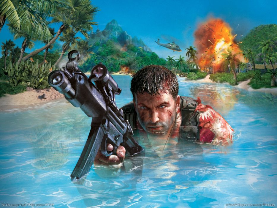 Far Cry Jack Carver cover game video 2004 pc action shooter wallpaper