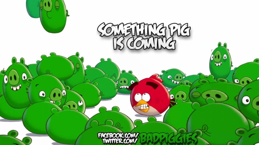 BAD PIGGIES puzzle family pig adventure physics wallpaper