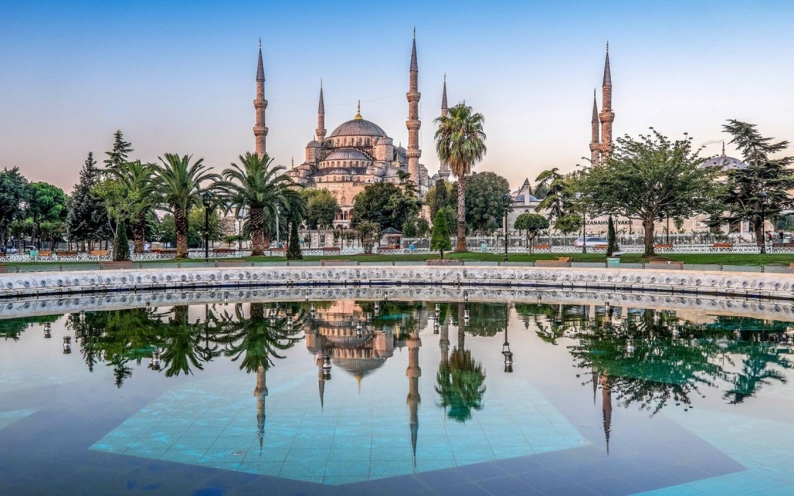 Turkey Istanbul Sultan Ahmed Blue Mosque Wallpaper