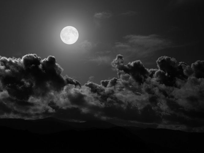 Moon Black wallpaper