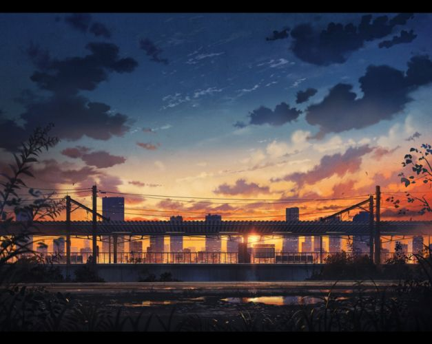 sun light amazing anime landscape sky wallpaper