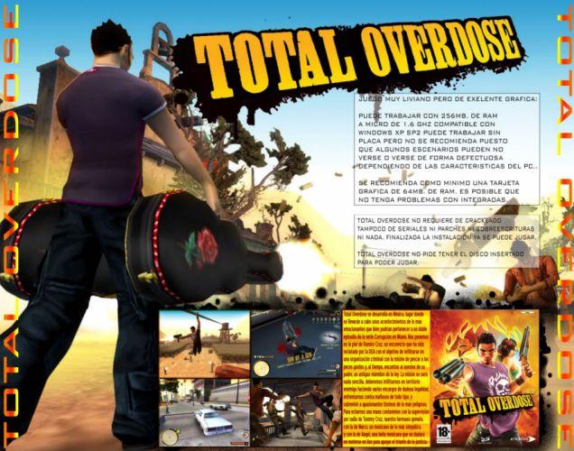 TOTAL OVERDOSE action shooter adventure wallpaper