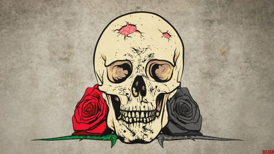skull death or live by bajanoski-d6h6870 wallpaper