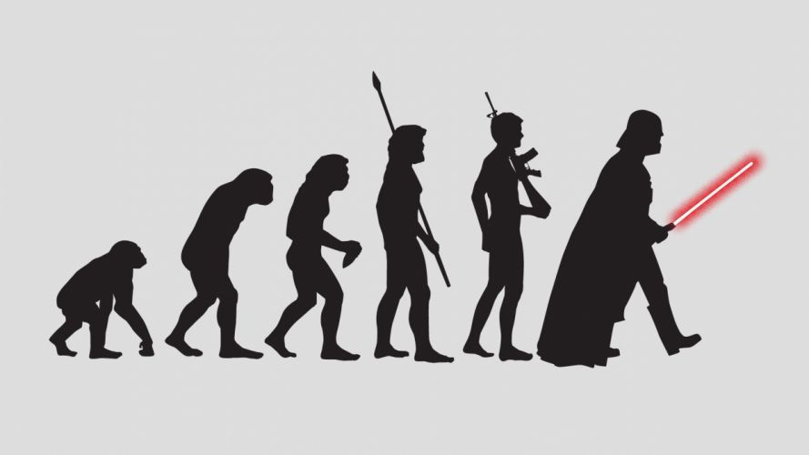 star wars wallpaper evolution of man by mcnealy-d5i8t02 wallpaper