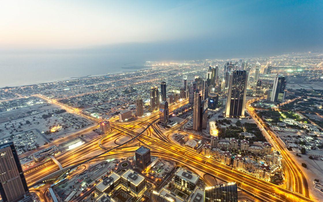 view from burj khalifa dubai-wide wallpaper