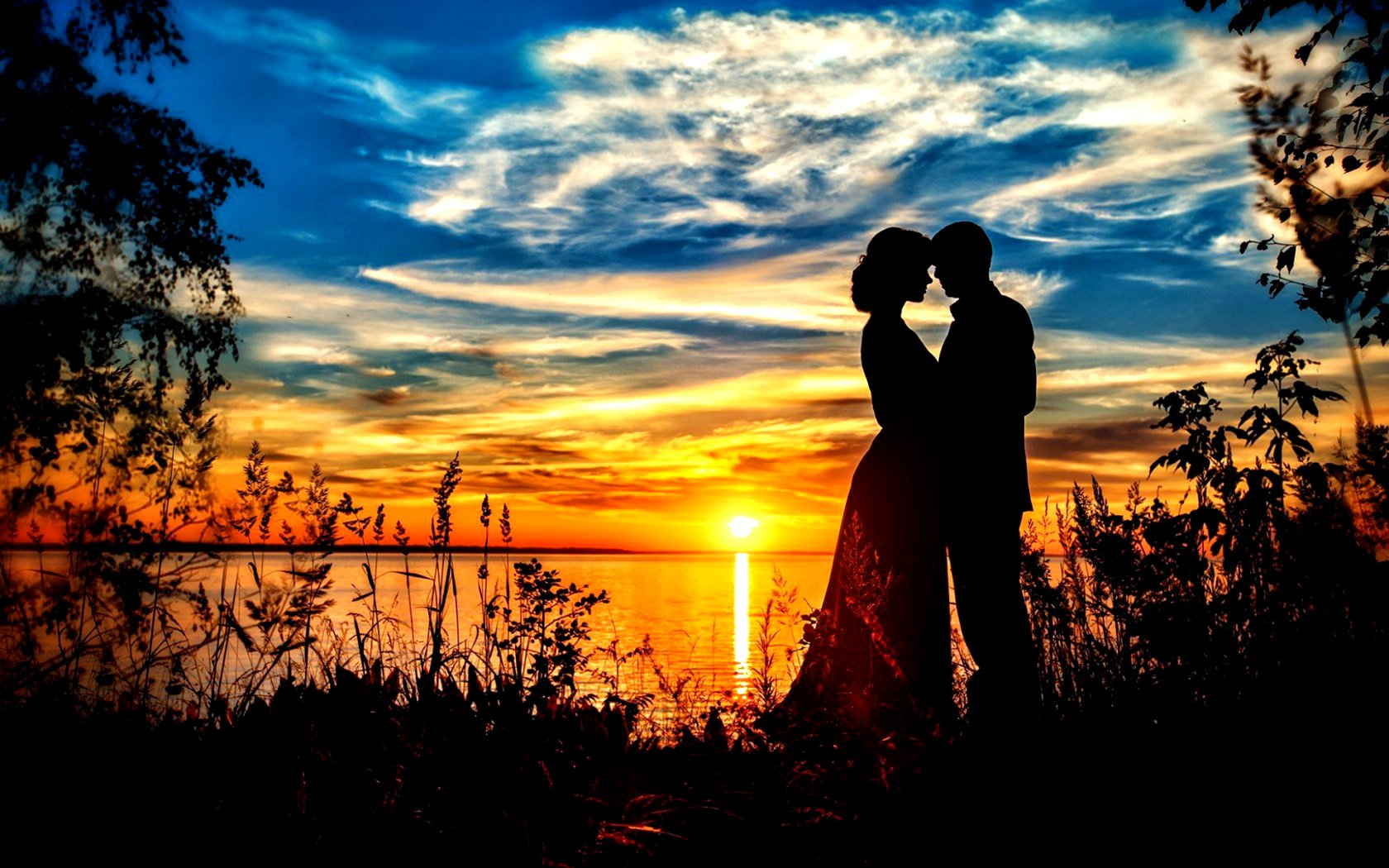 Love romantic romance sky nature couple sweet wallpaper ...